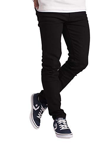 Mens Slim Fit Jeans Super Stretch Denim Pants Slim Skinny Casual Designer Jeans (32 Waist x 30 Length, Black)