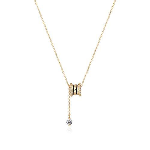 Collar de Mujer For mujer de la vendimia del collar del collar colgante brillante sintético zirconia clavícula collar de cadena for la niña regalo de cumpleaños Día de San Valentín Aniversario Collare