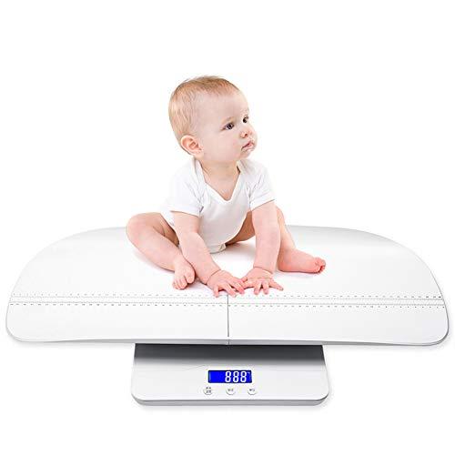 Bostar Báscula para Niños Pequeños Multifunción, con Bandeja de Altura, Peso (máx .: 220,5 libras) y Altura (máx .: 70 cm) Báscula 2 en 1 para Bebés y Niños Pequeños