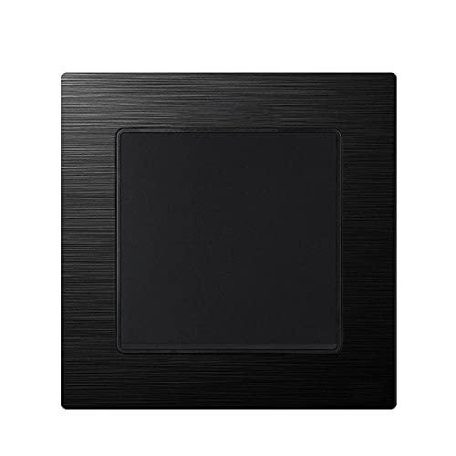 Interruptor de luz 1gang 3way 16a 250V Alloy de aluminio nuevo panel Negro 82mm * 82mm Interruptor interruptor Switch UE