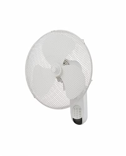 G4RCE HYGRAD Wall Mount Fan 3-Speed 16 in. Home Office Room Indoor Air Cooling Remote Control (Wall Fan White)