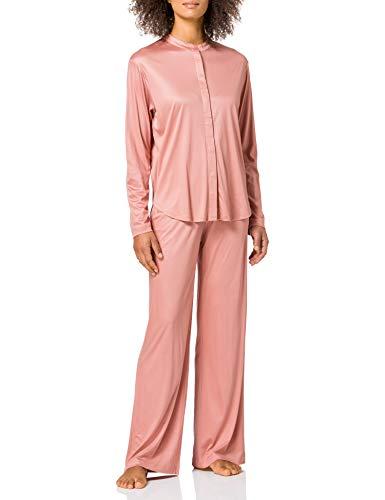 Schiesser Damen Pyjama lang Pyjamaset, Terracotta, 40