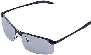 XINMAN - Gafas De Sol Que Cambian De Color A Prueba De Viento De Los Hombres Espejo De La Sombrilla De Moda Gafas De Sol De Pesca Polarizadas Espejo De Conducción De Medio Marco De Metal