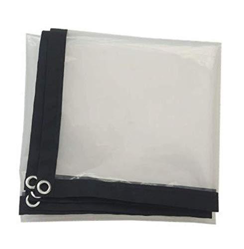 JX-PEP 0,12 mm Impermeable Transparente Hoja de Lona Tarp, Clear, PVC plástico Impermeable Anti-envejecimiento de Aislamiento PE con Ojales,4 * 4m