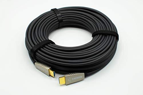ADAMANTIUM AUDIO HDMI Glasfaser Hybrid Kabel 4K 60Hz 18Gbit/s HDCP 2.2 HDR HLG CEC ARC 3D (12m)