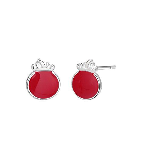 GMZOO Women's earrings Fresh Red Cherry Stud Earrings Female Sweet Fruit Tomato Earrings For Women Fashion Jewelry Accessories