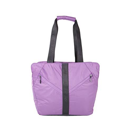 New Balance Women's Medium Training Gym Tote Bag with Yoga Mat Storage, Purple