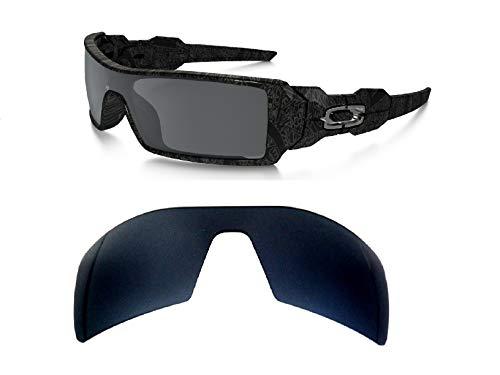 GALAXYLENSE Lentes de reemplazo para Oakley Oil Rig Gafas de sol para hombre o mujer 130x1.5x40 Regular Negro