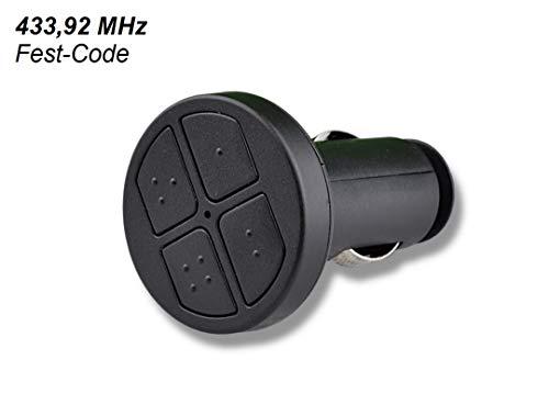 SCHARTEC Universal Handsender 433 MHz für Zigarettenanzünder - Funk Fernbedienung Garagentor 433,92 MHz Sender