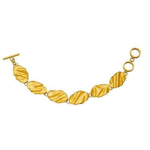 Designer Glieder Armband, 925 Silber 18kt vergoldet, Geschenk für Frau, Topseller