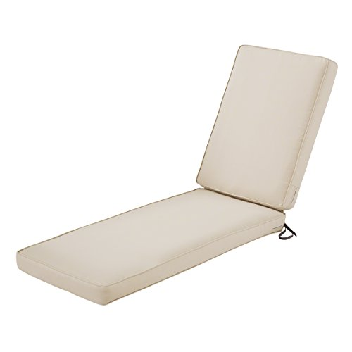 Classic Accessories Montlake Water-Resistant 72 x 21 x 3 Inch Patio Chaise Lounge Cushion, Antique Beige