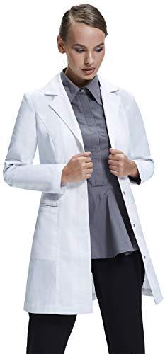 Dr. James Bata de Laboratorio Mujer, Corte Entallado, Diseño Femenino (38 (L))