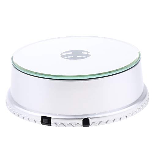 Milageto 4 Giradiscos Giratorios con Espejo Eléctrico Sin Ruido para Productos Digitales