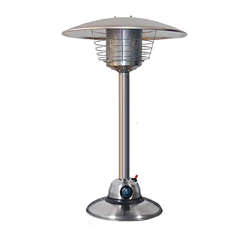 CRZJ Table Top Patio Heater, Mini Modern Steel Umbrella Propane Patio Heater, Garden Comfort Patio Heater