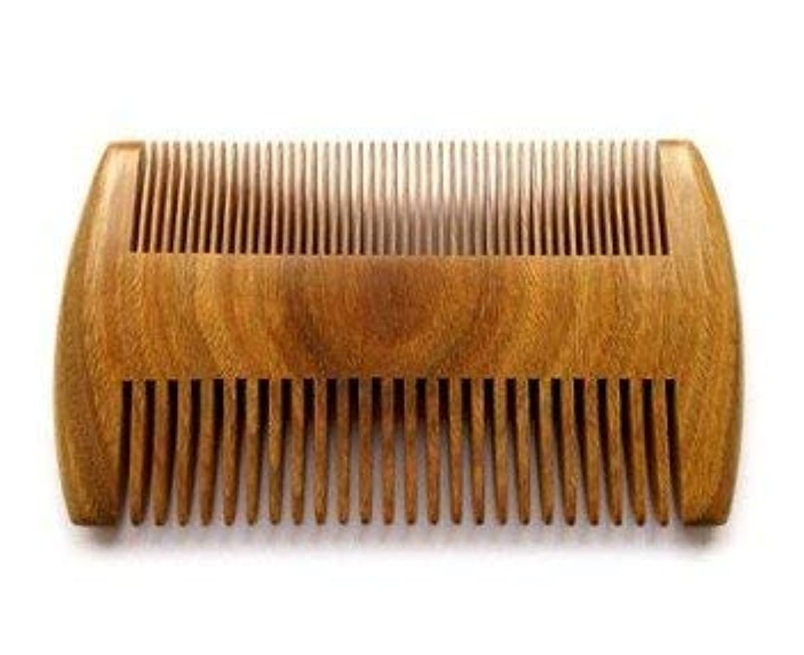 Myhsmooth GS-SM-NF Handmade Natural Green Sandalwood No Static Comb Pocket Comb Perfect Beard Comb with Aromatic Scent for Long and Short Beards Perfect Mustache Comb(4