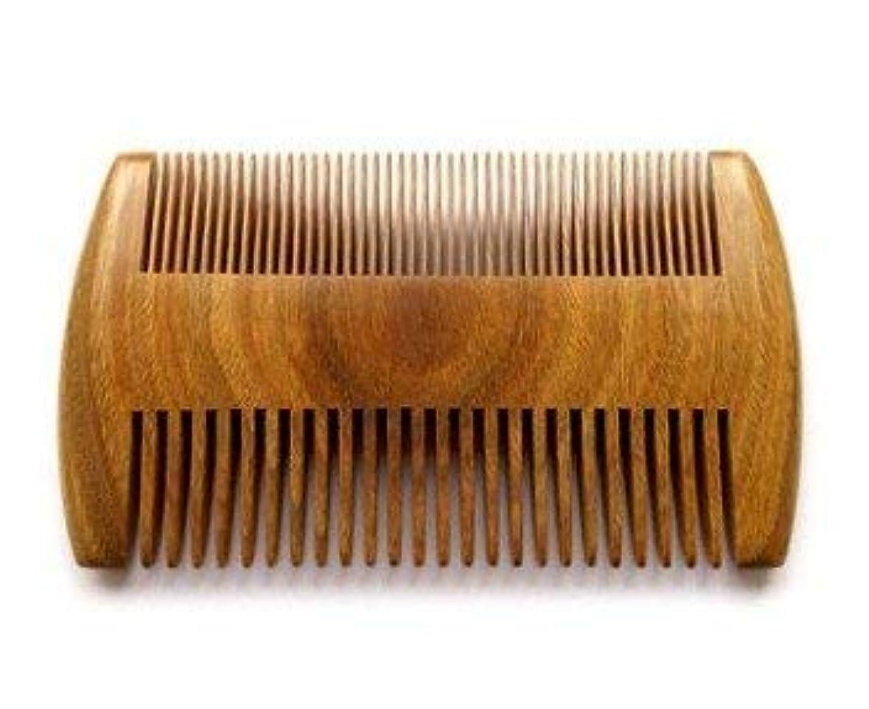 オフェンス有名水没Myhsmooth GS-SM-NF Handmade Natural Green Sandalwood No Static Comb Pocket Comb Perfect Beard Comb with Aromatic Scent for Long and Short Beards Perfect Mustache Comb(4