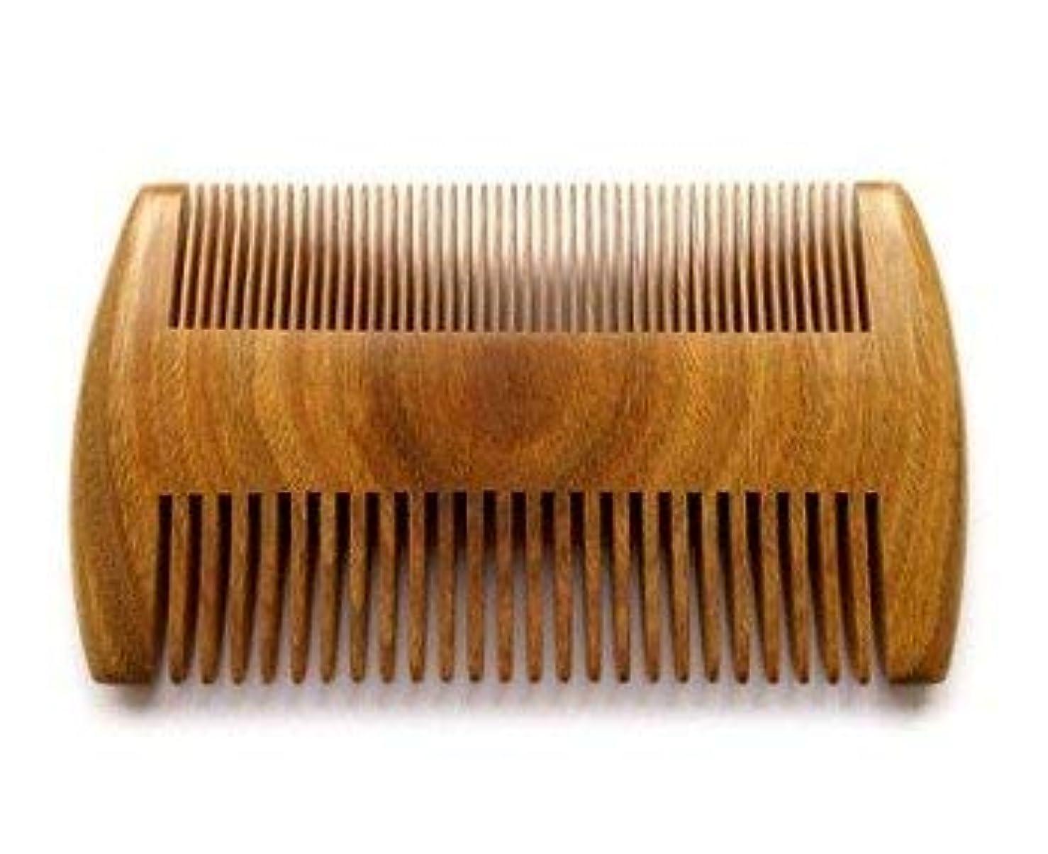 終了する世代暴徒Myhsmooth GS-SM-NF Handmade Natural Green Sandalwood No Static Comb Pocket Comb Perfect Beard Comb with Aromatic Scent for Long and Short Beards Perfect Mustache Comb(4
