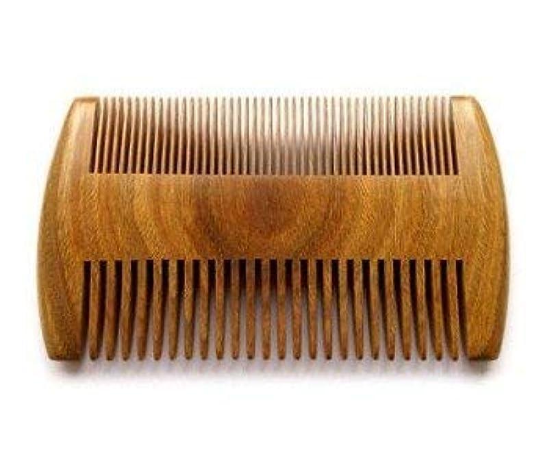 ライラック悪魔知覚できるMyhsmooth GS-SM-NF Handmade Natural Green Sandalwood No Static Comb Pocket Comb Perfect Beard Comb with Aromatic Scent for Long and Short Beards Perfect Mustache Comb(4