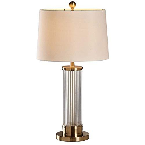 ♪ Amerikaanse moderne bronskleurige tafellamp van smeedijzeren kristal creatieve stang van kristal decoratieve tafellamp woonkamer slaapkamer designerlamp licht (design: button-6.