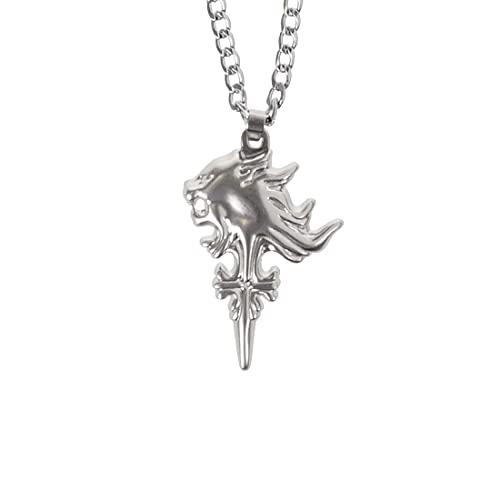 CosplayStudio Final Fantasy VIII Halskette mit Sleeping Lion Heart Anhänger von Squall Leonhart