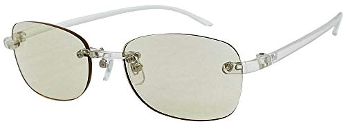(フェイストリックグラッシーズ) オシャレで軽い老眼鏡 UV/近赤外線/ブルーライトカット鯖江メーカー高性能レンズ老眼鏡 クリアフレーム/ライトブラウンレンズ FTR02-9LB +2.50