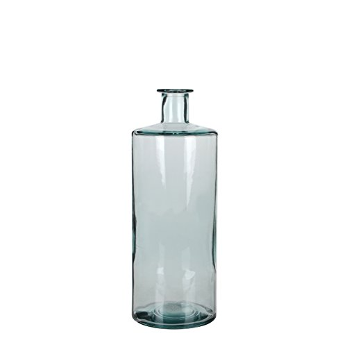 MICA Decorations Guan Flasche/Vase, Glas, transparant, H. 40 cm D. 15 cm