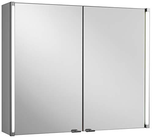 FACKELMANN Spiegelschrank Holz Silber 16,5 x 81 x 67 cm
