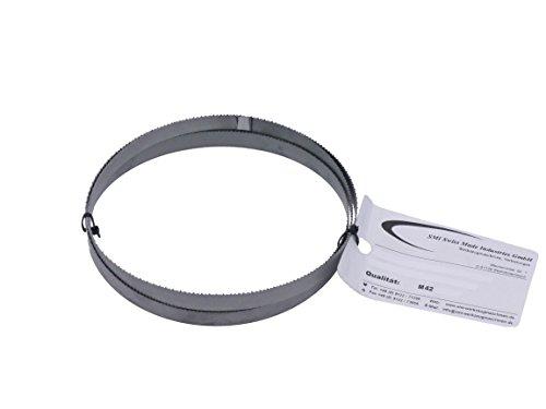 Hoja de sierra de cinta de metal, bimetal M 42, dimensiones 1638x 13x 0,65mm, 10/14ZpZ; apta para Optimum, Epple, Holzmann, Bernardo, entre otros