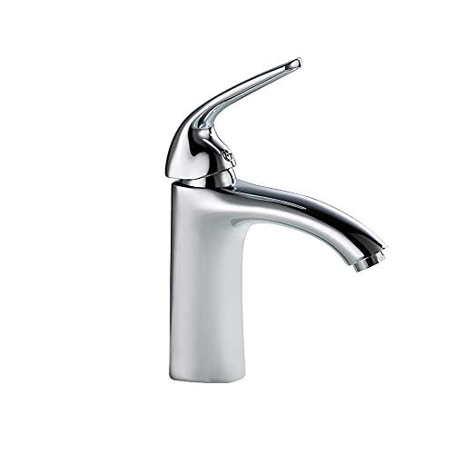Grifo para lavabo de una sola palanca Grifo para lavabo de latón cromado Agua fría y caliente Mezclador para lavabo de encimera Grifo para lavabo Grifo para lavabo para lavabo con mangueras flexibles