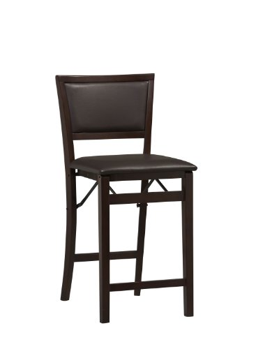 Linon Home Decor Keira Pad Back Folding Counter Stool 24Inch