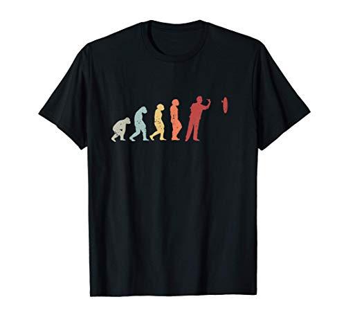 Vintage Darts Evolution Lustiges Dart Dartspieler Geschenk T-Shirt