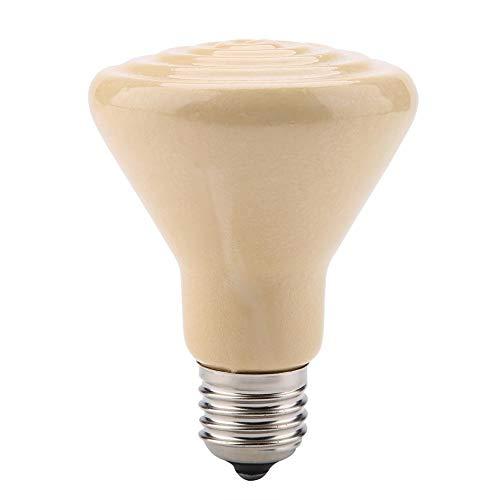 Lámpara de calefacción multifuncional, cerámica sólida Emisor de calor infrarrojo Criadora Lámparas de gallinero Bombilla Bombas de calor para reptiles Anfibios 220-230V(100W-Amarillo)