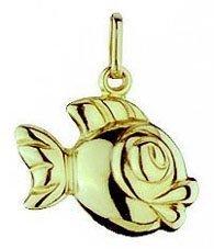 Fisch Charms Anhänger echt 14 Karat Gold 585 (Art.206019)