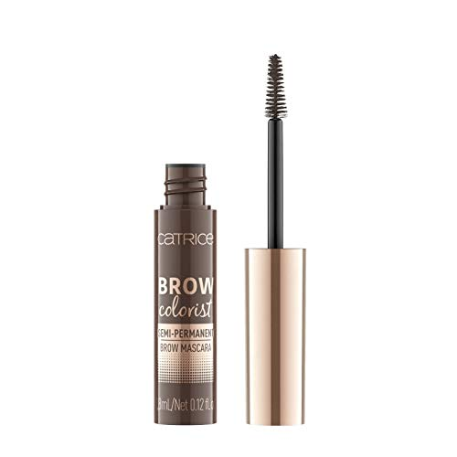 Catrice Brow Colorist Semi-Permanent Brow Mascara, Nr. 025 Brunette, braun, volumengebend, definierend, langanhaltend, natürlich, matt, vegan, Nanopartikel frei, ohne Parfüm (3,8ml)