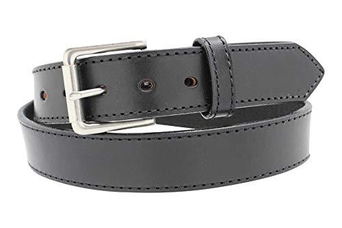 1 1/2' Stitched Heavy Duty Leather Gun Belt Black 36