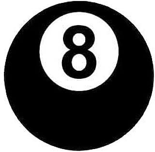 MAMA STICKER BUMPER VINYL BILLIARDS 8 BALL BLACK PLAY GAME POOL SPORT CIRCLE GAMBLE SIZE 3