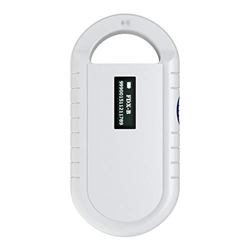 Cryfokt Escáner de Mano con Microchip para Mascotas, Recargable Animal Chip Reader Lector de Microchip Universal para el Seguimiento de Animales, para ISO 11784/11785, FDX-B e ID64 RFID