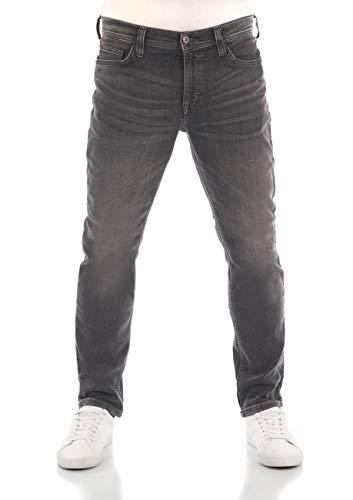 MUSTANG Herren Jeans Vegas Slim Fit Jeanshose Hose Denim Stretch Baumwolle Schwarz Grau Blau w30 - w40, Größe:36W / 32L, Farbvariante:Denim Black (4000-783)