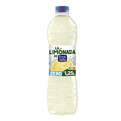 Limonada de Font Vella Zero, Agua Mineral Natural con zumo de limón - Botella 1,25L