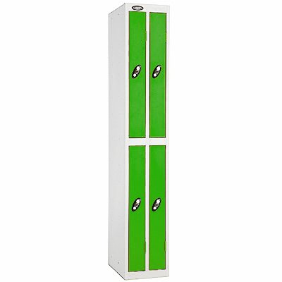 Davpack Two Person Twin Metal Storage Locker Ref LKAS//32//WH//WH White Door//White Body - Choice of Size Style /& Colour