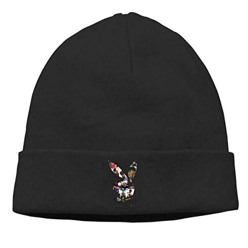 Beanie Caps Gorro de Tejer Gorra de Cobertura cálida para Hombres Mujeres Sección Delgada Negra