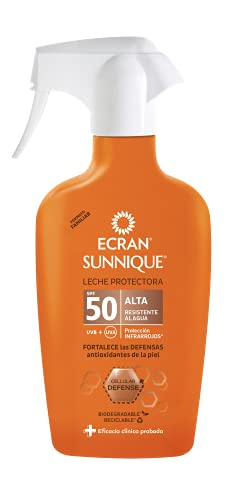 Ecran Sunnique, Protector Solar con SPF50 - Formato Familiar de 300 ml