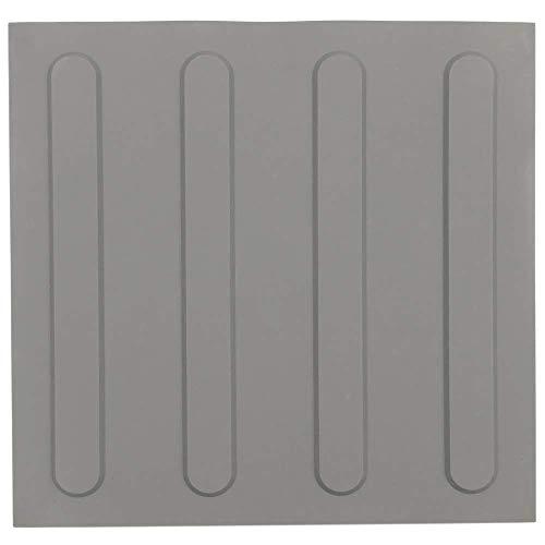 PrimeMatik - Baldosa podotáctil pavimento táctil de Ciegos invidentes de 30x30cm con Franjas Avance Gris 10-Pack