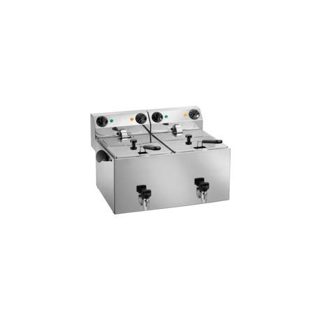 Friteuse électrique professionnelle - 2 cuves de 8 litres - L2G -