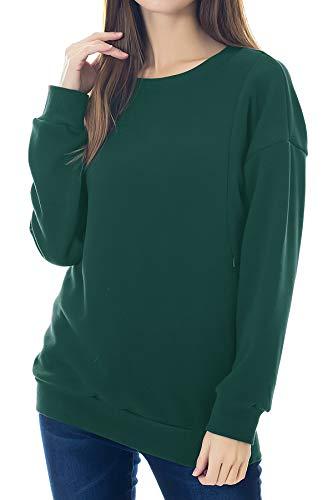 Product Image of the Smallshow Women's Fleece Maternity Nursing Sweatshirt Breastfeeding Tops Small...