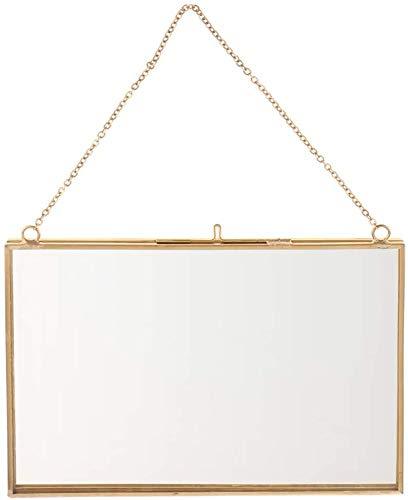 SHANGUP Moderne Metall Bilderrahmen Glas Hängende Fotorahmen Trockenblumen Rahmen mit Seil zum Aufhängen Fotos im Format (18x13cm)