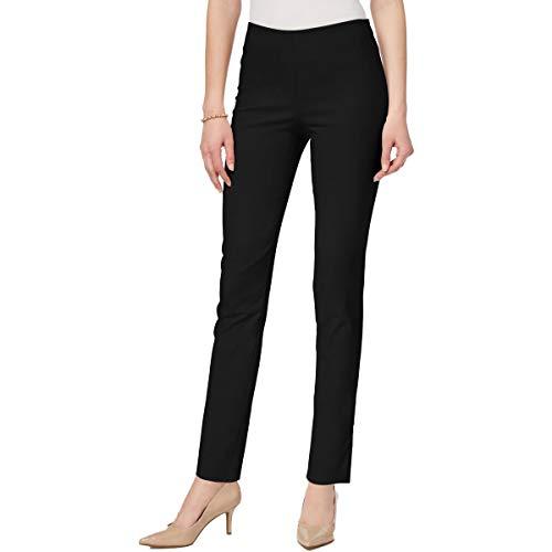Charter Club Womens High Rise Slimming Skinny Pants Black 14