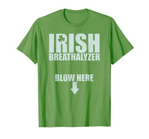Irish Alkoholtester Schlag hier St. Patrick\'s Day Drink Lustig T-Shirt