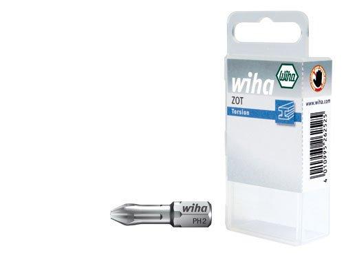 Wiha 7011-94102 Phillips Drill Bits 25 mm 2-Piece Set SB Card