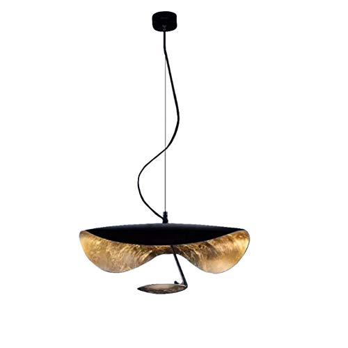 Vintage Kreativ Pendelleuchte Schwarz Esszimmer Deckenleuchte Höhenverstellbar Einfache Rustikal Seilzug-Pendelleuchte Geeignet für Arbeitszimmer Küche Schlafzimmer Ø60cm,3000K Warmweiß,8W